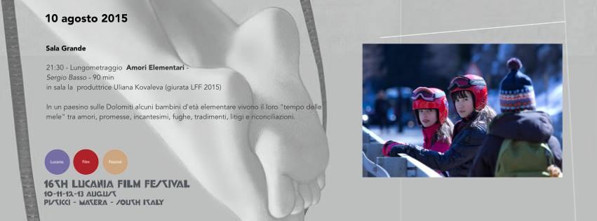 amori elementari 16a edizione lucania film festival 2015